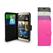 HTC DESIRE 620 PLAIN WALLET FLIP CASE IN VARIOUS COLOURS FREE SCREEN PROTECTOR