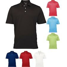 Adidas Mens ClimaLite® Textured Solid Golf Sport Polo Shirt