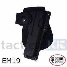 Genuine Fobus Glock 19 23 Light/Laser Bearing Holster all variants EM19