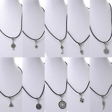 "10PCs Cowhide New Leather Necklaces With Pendant Gift Mixed 43cm(16 7/8"")"