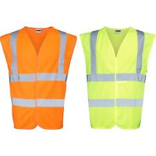 Mens RTY High Visibility Hi Vis Bright Waistcoat Top (Sizes Small to 5XL)