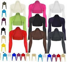 New Bolero / Shrug Cardigan Ladies Top - UK Size 6 8 10 14 16 20 Colors *Bolero