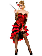 New Wild West Western Showgirl Ladies Burlesque Halloween Fancy Dress Costume