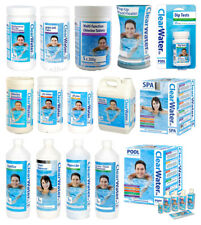 CLEARWATER CHEMICAL CHLORINE LIQUID TABLETS GRANULES POOLS SPA HOT TUB ALL RANGE
