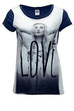 Vero Moda Damen T-Shirt Love Shirt Girl S/S Top Damenshirt Print Blau WOW - 60%