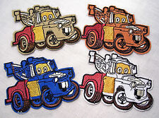 ÉCUSSON PATCH BRODÉ thermocollant - CAMION CAR'S ANIMÉS **7 x 8,5 cm** au choix