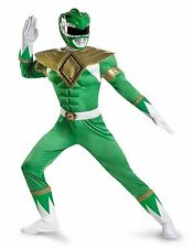 Green Power Ranger Muscly Adult Costume