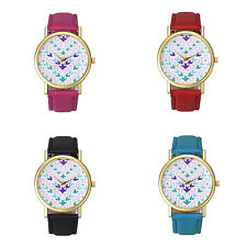 2015 New Fashion Watch Women Girl Quartz Pattern Leather Wrist Watch Hot Gift