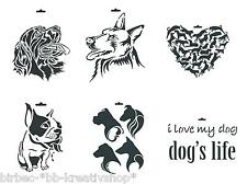 DIN A4 Schablone HEIKE SCHÄFER Create your Fashion Textil Stencil Tiere HUNDE 2