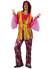 Hippie Hippy Woman Fancy Dress Costume 1960s 60s 1970s 70s Retro Groovy One Size