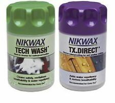 NIKWAX TECH WASH/TX DIRECT WASH-IN TWIN PACK EQUINE HORSE CLOTHING CARE