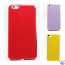 New Soft Glossy Silicone TPU Case Cover for Apple iPhone 5 6 6+ Samsung S5 S6