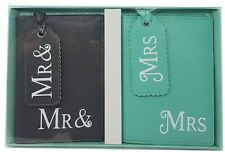 Mr & Mrs passport covers Luggage Tags Wedding gift and honeymoon Bridal present