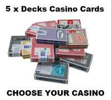 5 X DECKS OF LAS VEGAS CASINO CARDS - 30+ TO CHOOSE FROM ALL POPULAR CASINOS