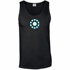 Iron Man Arc Reactor Tank Top - Stark Inspired Tony Industries Mens Gym Vest