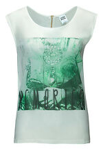 Vero Moda Damen Top Tank-Top Snow Bluse White/Print 2 WOW SALE - 70%