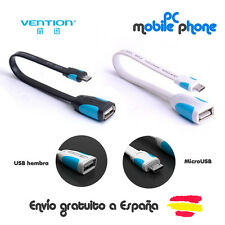Cable conversor adaptador microUSB macho a USB hembra VENTION