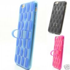 New Finger Loop Soft Silicone TPU Case Cover for iPhone 5 6+ Samsung S5 S6 Note4