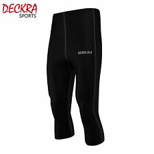 Deckra Mens Compression Base Layer Short 3/4 Knicker Running Fitness Tights