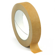 25mm 38mm 50mm x 50m ECO BROWN SELF ADHESIVE KRAFT PICTURE FRAMING PAPER TAPE