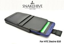 SNAKEHIVE® Leather Pouch Case for HTC Desire 610