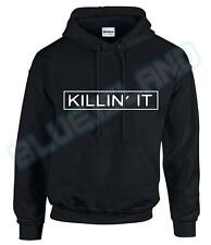 KILLIN' IT HIPSTER HOODED TOP HOODY HOODIE WASTED YOUTH SWEATER SWAG DOPE NEW