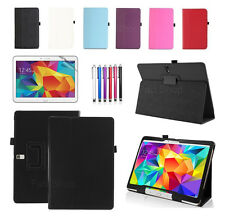 """UK Leather Smart Stand Case Cover For New Samsung Galaxy Tab 4 10.1""""Inch SM-T530"""