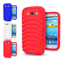 3 Colour Tyre Soft Rubber Phone Case Cover For Samsung Galaxy S3 I9300 / S3 I747