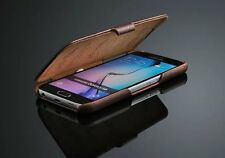 GENUINE PREMIUM LEATHER ULTRA SLIM THIN CASE FOR SAMSUNG GALAXY S6 - BOOK STYLE