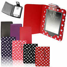 Cover in pelle con luce per AMAZON KINDLE 4, 6 pollici