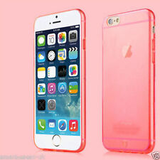 Peach / Red Apple iPhone 6 4.7 Flexible Back Case Cover + Protector