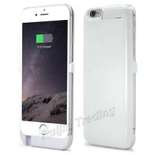 White Backup Battery Charger Case Cover for Apple iPhone 6 4.7 or 6 PLUS 5.5