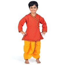 Rajasthani Floral Pattern Boys Traditional Dhoti Angrakha Dress  EIDLI4KED201A