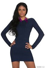 Women's Wear Chic Elegant Jumper Mini Dress UK size 10 Colours Available