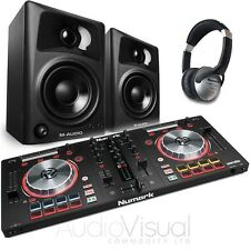Numark Mixtrack Pro 3 DJ Controller with M-Audio AV32 (Pair) & HF125 Headphones