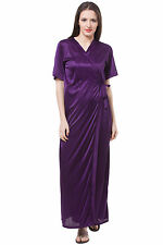 Fasense Exclusive Women Satin Sleepwear 2 PCs Set Of Nighty & Wrap Gown DP111 E