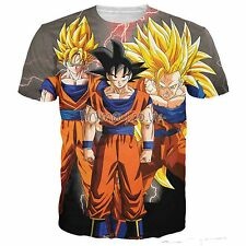 DRAGON BALL Z ANIME SUPER SAIYAN GOKU HD 3D PRINT T-SHIRT MENS UNISEX