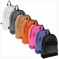 Ladies Girls Faux Leather Unisex Backpack Rucksack School College Daypack Bag