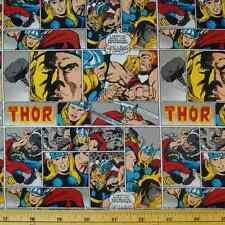 Marvel Superheroes The Mighty Thor Comic Strip Classic 100% Cotton Fabric