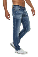 NEU Jack & Jones Herren Men Jeans Hose Knit Blue Denim Straight Fit Slim Fit WOW