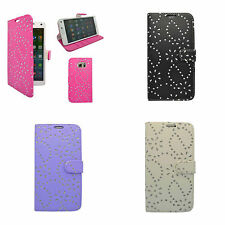FOR SAMSUNG GALAXY NOTE 5 FLORAL GLITTER DIAMOND WALLET IN VARIOUS COLOURS CASE