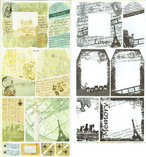 CRAFTY BITZ Cardstock Stickers + Transparencies Vintage TRAVEL inc Eiffel Tower