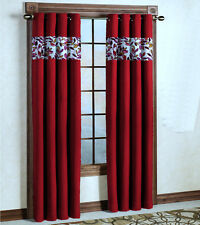 Kwality Designer Blackout Red Curtain with Eyelets (BO14PL14)