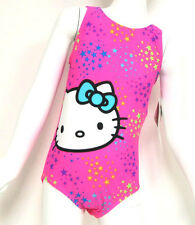 Hello Kitty Girls Swimsuit - Pink Stars Swimming Costume Size 4 5 6 7 Years BNWT