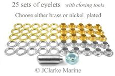 Brass eyelet kits with tools nickel plated eyelets kit & hole punch 8mm - 13mm