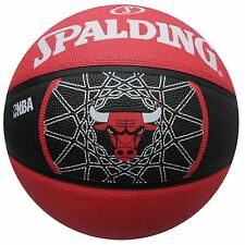 Spalding Chicago Bulls NBA Team Basketball Red/Black Hoops Ball