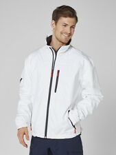 Helly Hansen Crew Midlayer Fleece Lined Waterproof Jacket White NEW
