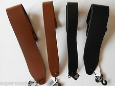 """UK MADE 2"""" & 3"""" WIDE REAL LEATHER ELECTRIC OR ACOUSTIC ADJUSTABLE GUITAR STRAP"""