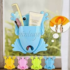 Frog Prince Toothbrush Toothpaste Storage Holder Case Bath Room Decor Ornament