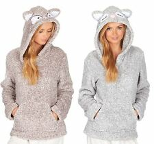 Ladies Womens Super Soft Cosy Coral Fleece Comfy Snuggle Tops Hoodie Gown